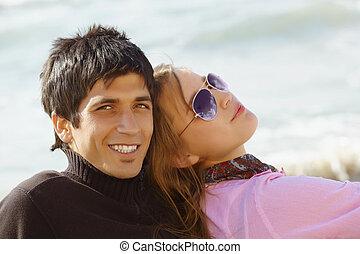 turkish coupel on the beach
