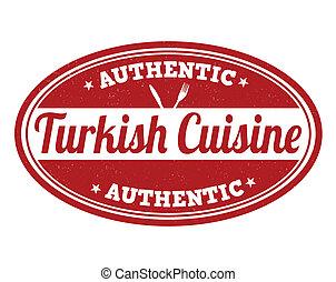 Turkish cuisine stamp