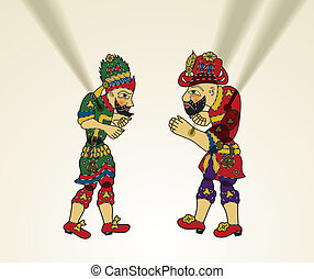 karagoz and hacivat - Turkish Culture, Shadow Puppet,...