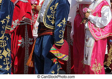 Turkish dancers in traditional costume