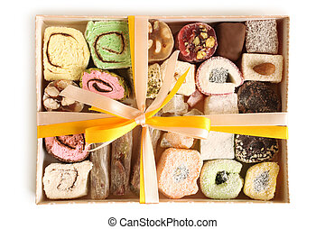 Turkish delight in gift box