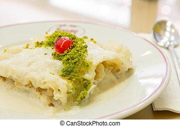 Turkish Dessert Gullac - Traditional Turkish Ramadan dessert...