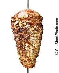Turkish donner kebab isolated over white