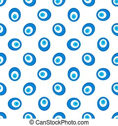 Turkish evil eye seamless pattern