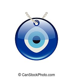 Turkish eye amulet isolated on white vector