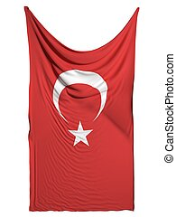 Turkish flag on white background