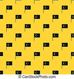 Turkish flag pattern vector - Turkish flag pattern seamless...