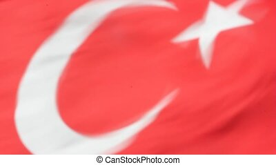 Turkish flag waving in the wind