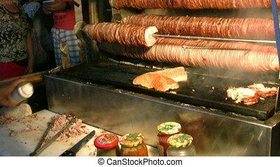 Turkish food kokorec