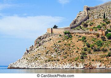 Turkish fortress at the Mediterranean sea