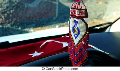 turkish handicrafts, knitted automobile mashallah ...