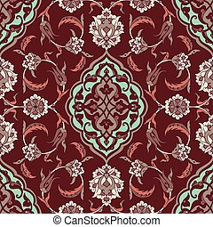 Turkish Iznik Tile Design - Turkish Iznik tile, vector and...