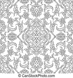 Turkish Iznik Tile Design - Turkish Iznik tile, vector and...