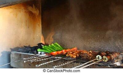 turkish kebab background
