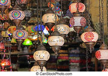 Turkish lamp in a bazaar