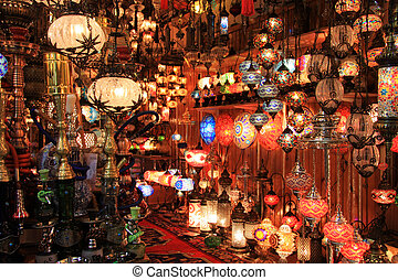 Turkish lamps shop in the Grand Bazaar, Istanbul