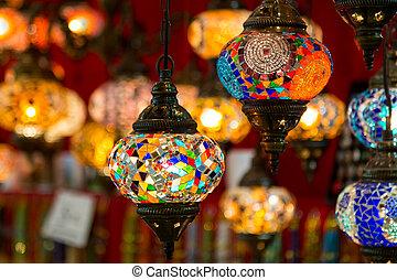 Turkish Laterns in Grand Bazaar, Istanbul City