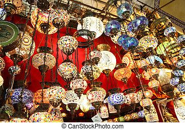 Turkish Laterns in Grand Bazaar, Istanbul, Turkey