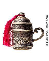turkish metall coffee cup