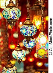 Turkish multicolor lamps