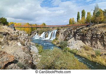 Turkish Muradiye waterfalls near Van