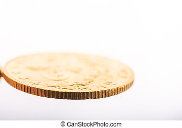 Turkish Ottoman style gold coin in view