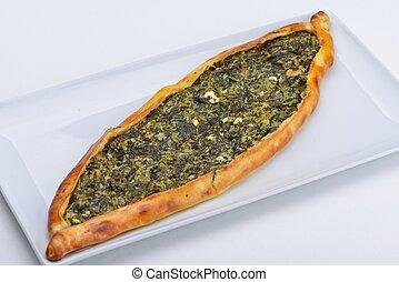turkish pita - Homemade traditional Turkish meal pide...