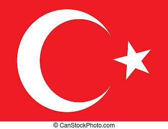 turkish red flag  vector art