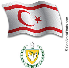 turkish republic of northern cyprus textured wavy flag vector
