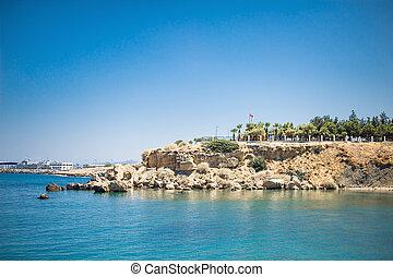 embankment in the sea near Kyrenia Castle