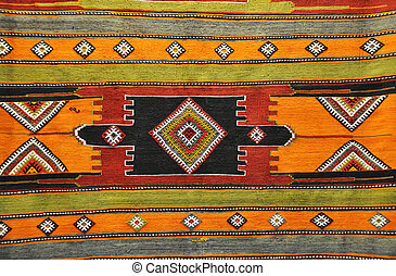 Colorful Turkish rug, perfect as a background