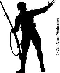 turkish soldier statue