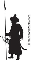 Turkish spearman. Warriors Theme - Turkish warrior with...