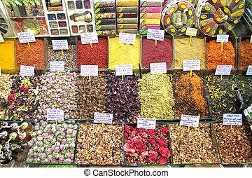 Turkish spice bazaar in istanbul