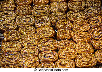 Turkish style dried fruit pulp as snack food