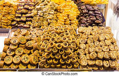 Turkish Sweets in Spice Bazaar, Istanbul