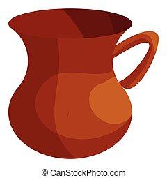 Turkish tea cup icon, cartoon style