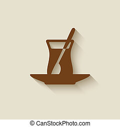 Turkish tea design element