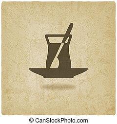 Turkish tea old background