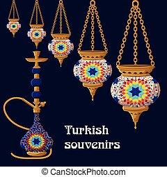 Turkish traditional ceramic souvenirs.