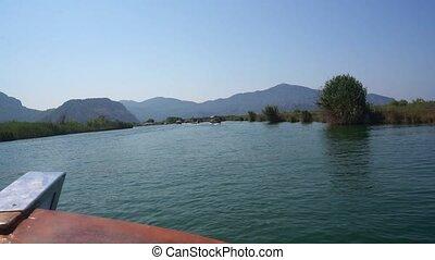 Turkish vast river trip along green coast video - Turkish...