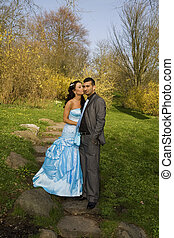 turkisk ethnic engagement wedding couple