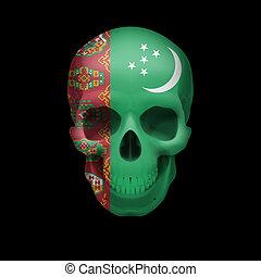 Turkmenian flag skull