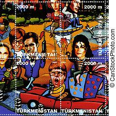 TURKMENISTAN-CIRCA 2000: stamp printed in Turkmenistan shows...