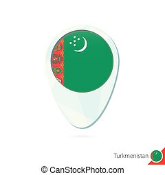 Location turkmenistan Map pin showing turkmenistan clip art vector