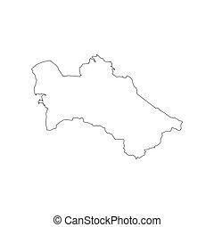 Turkmenistan map silhouette