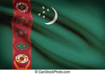 turkmenistan., série, flags., despenteado