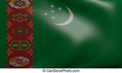 turkmenistan strong wind flag