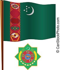 turkmenistan wavy flag