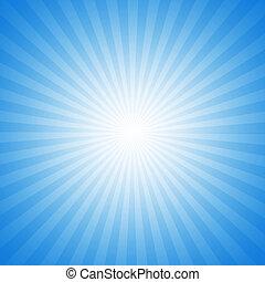 turkoois, starburst, effect, achtergrond